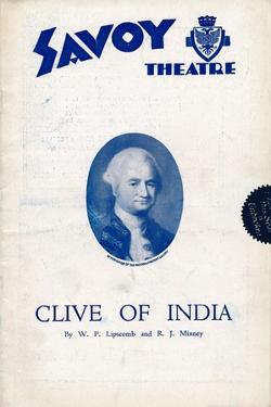 Clive of India programme for the Savoy Theatre, 1934 by Unknown