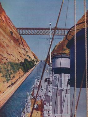 'Completed in 1893, the Corinth Canal', 1937 by Unknown