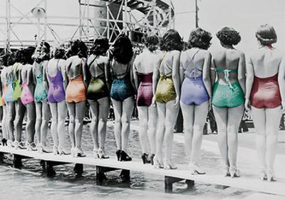 Coney Island Line Up, 1935 by Unknown