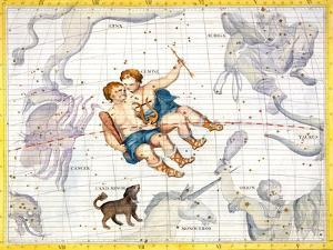 Constellations of Gemini and Canis Minor, 1729 by Unknown