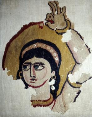 Coptic Textile, Female Head Portrait, Egypt, 6th-7th century by Unknown