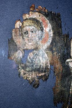 Coptic Textile Head of Christ, Painting on Linen, Egypt, 6th century by Unknown