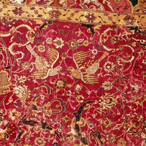 Detail of Persian Arabesque Emperor Carpet with Birds, 16th century by Unknown