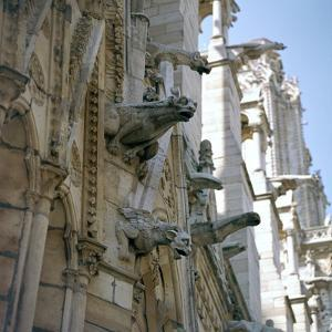 Detail of the north side of Notre Dame, 12th century by Unknown