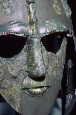 Detail of the Sutton Hoo Helmet from the ship burial. Artist: Unknown by Unknown