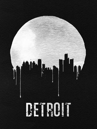 Detroit Skyline Black