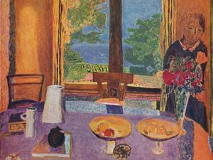 'Dining room on the garden - Interior', 1937 by Unknown