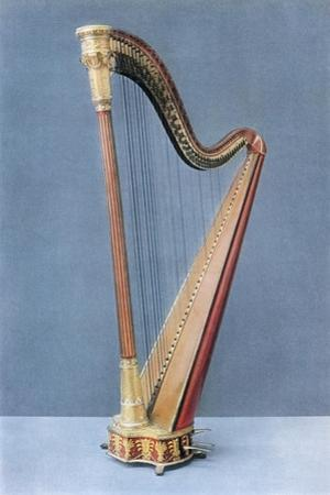 'Double-pedal harp made by Erard Frères, Paris, mid-nineteenth century', 1948 by Unknown