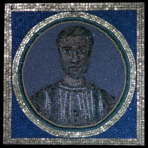 Early Christian mosaic of Flavius Iulius Iulianus, 4th century by Unknown