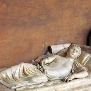 Effigy of a youth on a Roman sarcophagus, 2nd century by Unknown