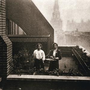 Emmeline and Christabel Pankhurst, British suffragettes, London, 12 October 1908 by Unknown