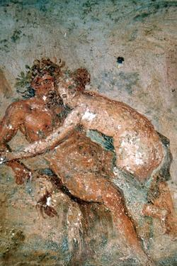 Erotic mural, Pompeii, Italy. Artist: Unknown by Unknown