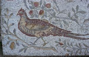 Floor mosaic from a Roman villa by Unknown