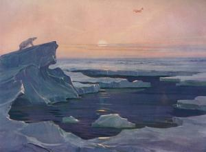 'Flying over the Polar Wastes', 1927 by Unknown
