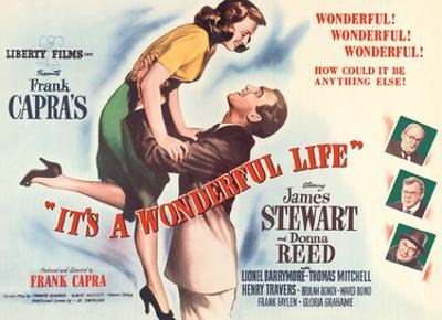 """Frank Capra's """"It's a Wonderful Life"""" - Starring James Stewart, Donna Reed by Unknown"""