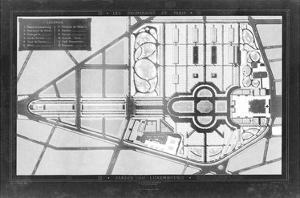 French Garden Blueprint II by Unknown