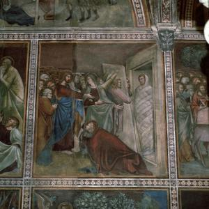 Fresco of the raising of Lazarus, 14th century by Unknown