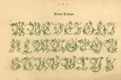 'German Arabesque', 1862 by Unknown