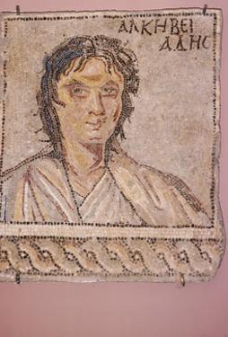 Greek mosaic, Alcibiades, c450BC-c404 BC by Unknown