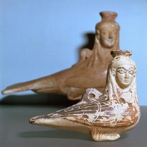 Greek terracotta in the shape of a siren, c570BC by Unknown