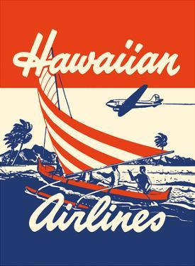 Hawaiian Airlines - Hawaiians in Outrigger Canoe (Wa?a) by Unknown
