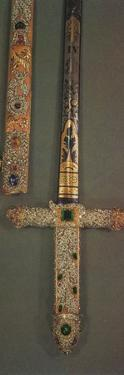 'Hilt and scabbard of the Jewelled State Sword', 1953 by Unknown