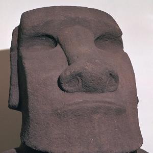 Hoa Hakananai'a, from Orongo, Easter Island (Rapa Nui), Polynesia, c1000 by Unknown