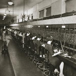 Inside a New York telephone exchange, USA, early 1930s by Unknown