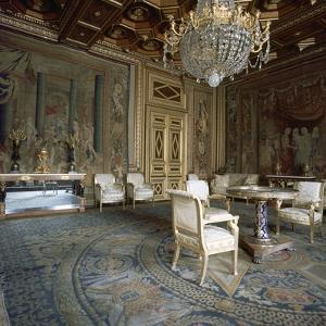 Interior of Fontainebleau Palace, 16th century by Unknown