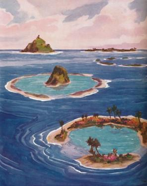 'Islands Formed By Tiny Marine Creatures', 1935 by Unknown