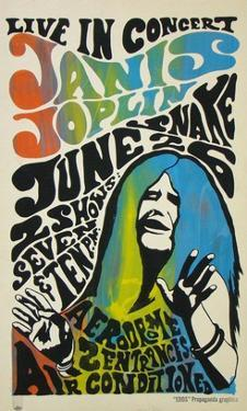Janis Joplin concert poster, 1970 by Unknown