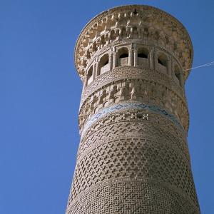 Kalian Minaret in Bukhara, 12th century. Artist: Unknown by Unknown