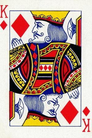King of Diamonds from a deck of Goodall & Son Ltd. playing cards, c1940