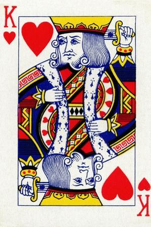 King of Hearts from a deck of Goodall & Son Ltd. playing cards, c1940 by Unknown