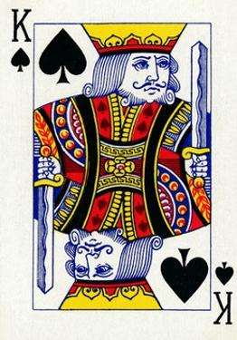 King of Spades from a deck of Goodall & Son Ltd. playing cards, c1940 by Unknown