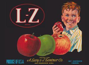 L-Z Brand Apples - San Francisco, California by Unknown
