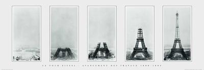 La Tour Eiffel Avancement des Travaux, 1888-1889 by Unknown