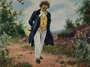 'Ludwig van Beethoven 1770-1827. - Gemälde von Schmid', 1934 by Unknown
