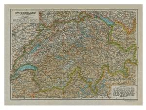 Map of Switzerland by Unknown