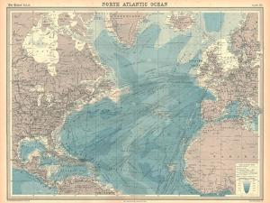 Map of the North Atlantic Ocean by Unknown