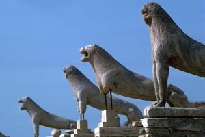 Marble lions at Delos in Greece, 7th century BC by Unknown