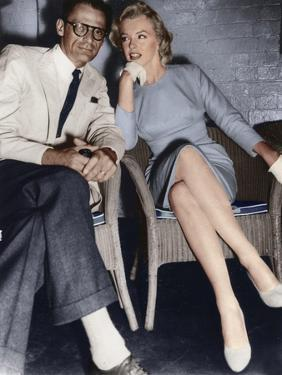 Marilyn Monroe and Arthur Miller, just arrived in London, c1956-1957 by Unknown
