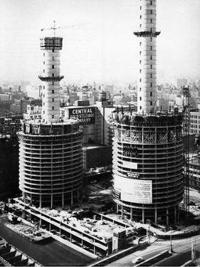 Marina City Under Construction, c early 1960's, Chicago by Unknown