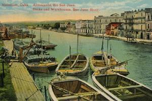 Matanzas, Cuba. Almacenes, Rio San Juan. Docks and Warehouses, San Juan River, c1910 by Unknown