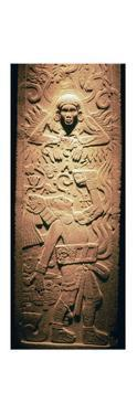 Mayan sculpture of a sun-god by Unknown