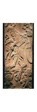 Mayan stela showing human sacrifice by Unknown