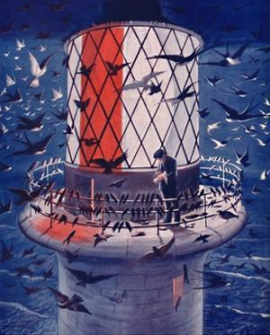 'Migrant Birds Visit the Lighthouse', 1935 by Unknown