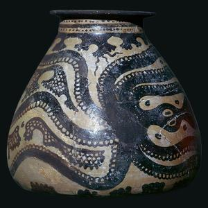Minoan pot with an octopus motif by Unknown