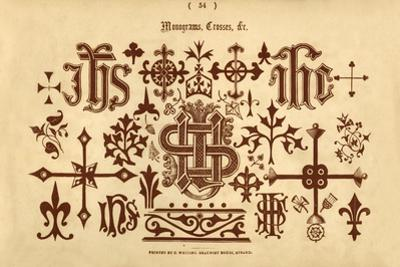 'Monograms, Crosses, &c.', 1862 by Unknown