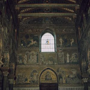 Mosaics above the west door of the Cathedral in Monreale, 12th century by Unknown